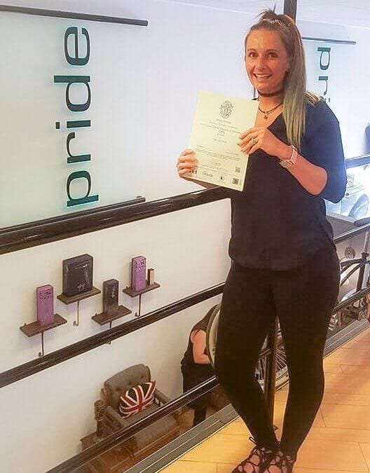 Kirsty Completes her Level 2 in Hairdressing!