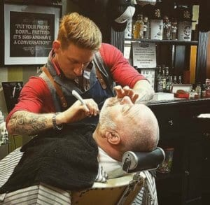 Matt Cater Barber Gloucester Train with Pride Shave