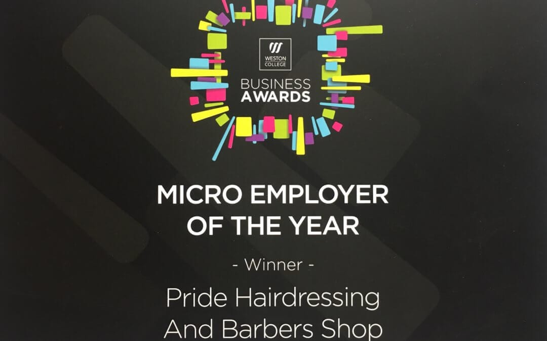 Pride Hair wins Weston College Business Award!